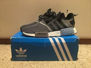 """ADIDAS NMD R1 """"Grey/ Blue & White Castle Hill The Hills District Preview"""