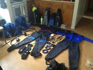 Full scuba and dry suit plus extras and options