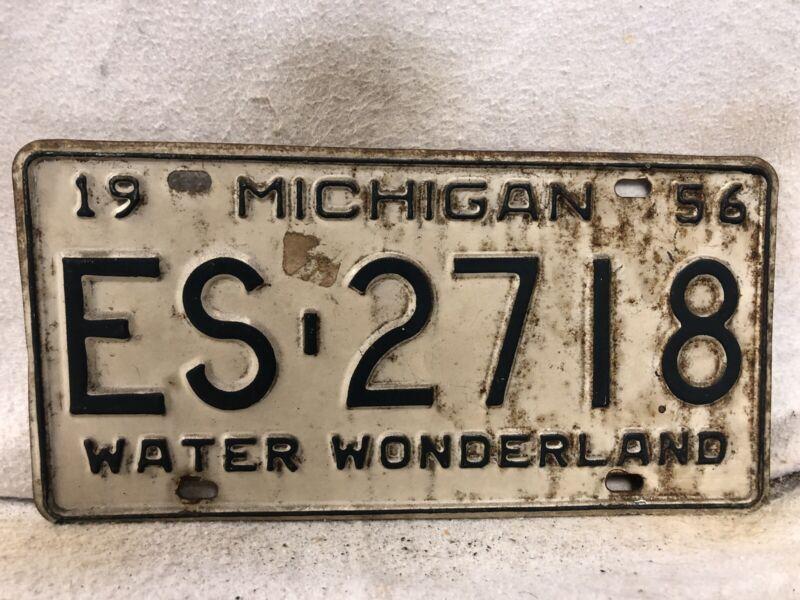 Vintage 1956 Michigan License Plate