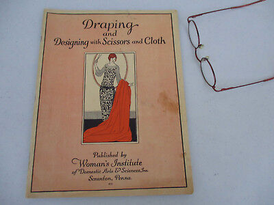 Draping Designing Roaring 20s Women's Fashion Glamour Dress Design Clothing 1924