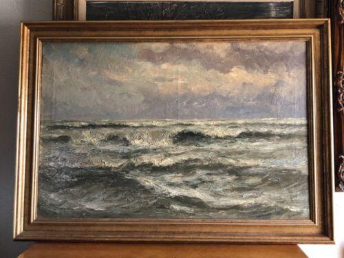 Romain  Steppe  Ocean scene in oil