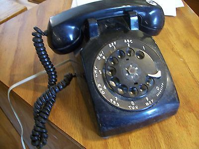 ANTIQUE VINTAGE BELL SYSTEM Western Electric G1 Rotary Telephone Desktop