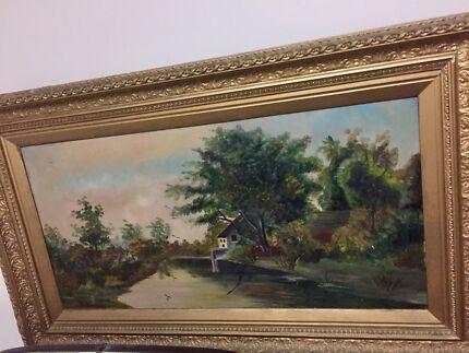 Antique Victorian painting