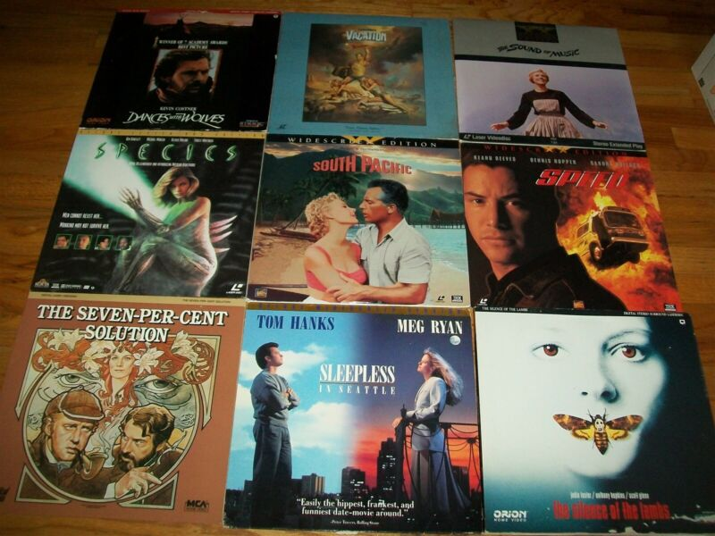 50 LOT Laserdiscs LD Laser Video Disc Disk Movies Very Good Condition LOT#398