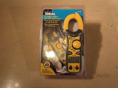 Ideal 61-746 Clamp Pro 600 Aac True Rms Clamp Meter  New In The Package