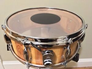 """Brand new solid wood 14""""x 5 1/2"""" snare drum"""