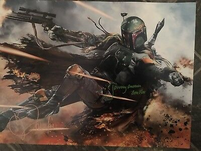 Signed Jeremy Bulloch And Daniel Logan Boba Fett Photograph-Star Wars