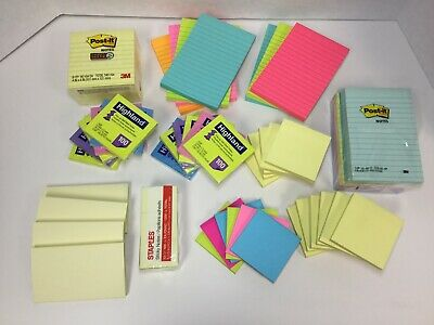 Post-it Notes Americas Favorite Sticky Note Super Sticky Pop-up Lined 63 Ct