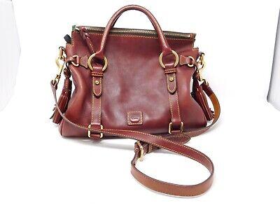 Dooney & Bourke Florentine Micro Leather Satchel BORDEAUX A369634 red