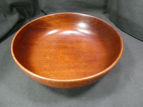 Gordon Keeler Turned Mahogany Large Bowl NH League Craftsmen Vintage Modern
