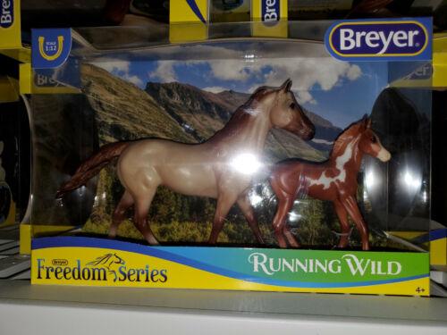 Breyer Running Wild #62204 Ruffian Mare and Morgan Foal Classic Set NIB 2019
