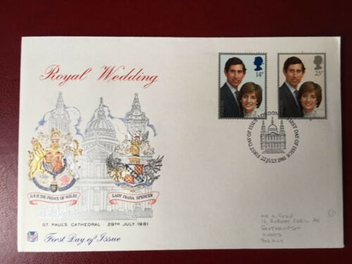 1981 FIRST DAY COVER - ROYAL WEDDING - STUART COVER  - LONDON H/S