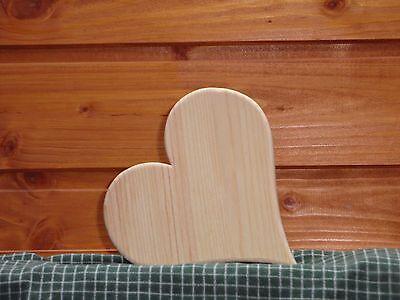 Holzherz  Handwerk massiv handarbeit natur 11 cm Muttertag Liebe Geschenk°