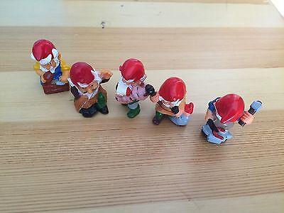 Ü-Ei Figuren Zwerge  Zunft der Zwerge 5 Zwerge 1992