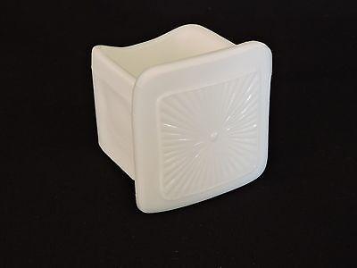 Vintage White Milk Glass Starburst Bird Cage Feeder Waterer Seed Water Cup