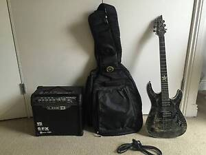 Schecter C-1 Exotic Star Electric Guitar + Amp + Case and Lead Ultimo Inner Sydney Preview