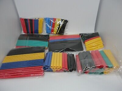 328 Pcs Heat Shrink Tube Insulated Shrinkable Wrap Wire Cable Sleeve Fitting Lot