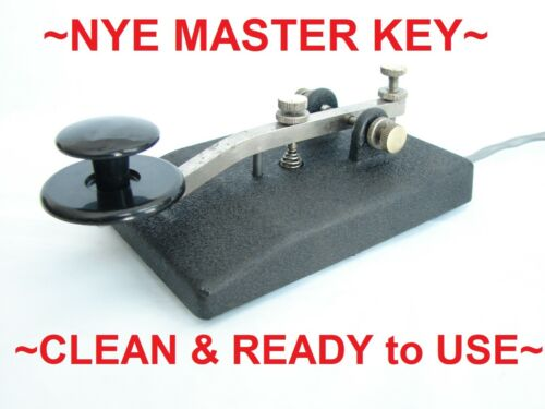~NYE MASTER KEY TELEGRAPH KEY~CLEANED, LUBED & TESTED~SOFT TOUCH KEYING @ BEST~