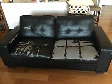 2 Seat Sofa & Fold Out Bed Glen Alpine Campbelltown Area Preview