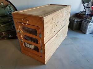 Large wooden Air Frieght approved dog crate Bundall Gold Coast City Preview