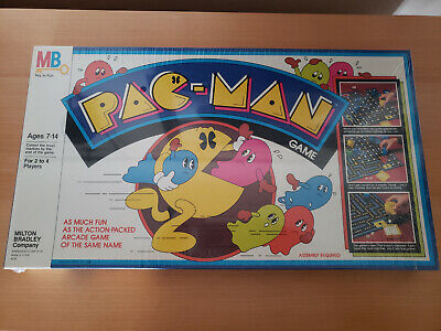 Vintage Pac Man Board Game Milton Bradley 1980s Rare Unopened plastic wrapped.