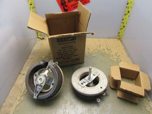 Lot of 2x Vintage Ohmite Model N 4 Ohm 8.66A Rheostats [4*E-32]