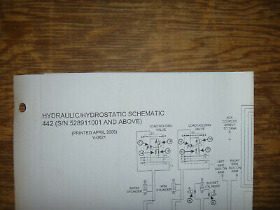 Bobcat 442 Excavator Hydraulic Hydrostatic Schematic Diagram Manual Sn 528911001