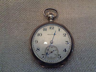 Antique pendant or pocketebay vinatgeantique waltham pocket or pendant watch sterling silver case 17 jewels mozeypictures Choice Image