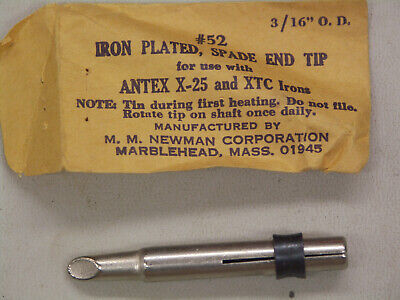 """Antex #6-NS Nickel Plated Spade End Tip 3//64/"""" OD New Open Box"""