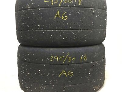 2 Hoosier A6 Compound Race Tires 295/30ZR18 DOT Racing Competition Track Slicks for sale  Covington