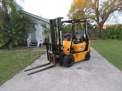 Hlf 18-5 Hyundai 3300 Lb Forklift Propane Lift 130 730 Hrs Pneumatic Side Shift