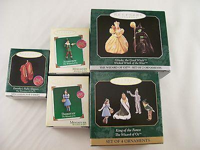 Wizard of Oz Lot of 9 RARE Hallmark Miniature Keepsake Ornaments MINT and NEW!!
