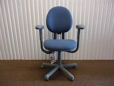 Criterion Ergonomic Office Desk Chair Fully Adjustable Blue Fabric By Steelcase