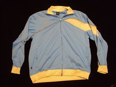 f7c6a77ef273e3 Air Jordan Blue White Silver Track Jacket Adult Size XL New Without Tags!