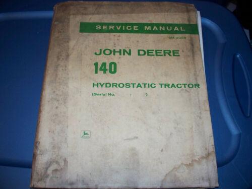 Original 1969 John Deere 140 Lawn Tractor Service Manual SM-2086