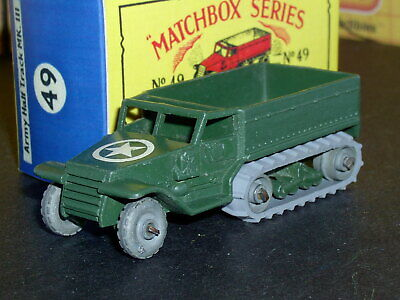 Matchbox Lesney Half-Track Personnel Carrier 49 a1 MW&MR SC2 EX/NM crafted box