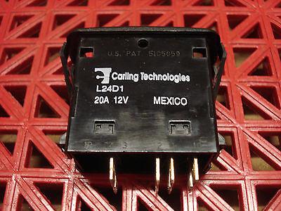 Carling Technologies Sealed Rocker Switch L24d1gnh1 20a 12v New