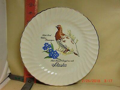 ALASKA STATE BIRD PLATE , WILLOW PTARMIGAN - ARCTIC CIRCLE ENTERPRISES