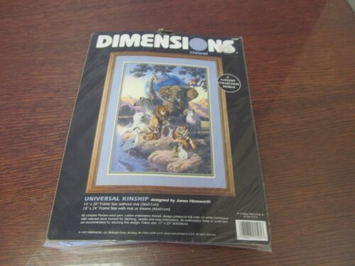 SEALED Dimensions UNIVERSAL KINSHIP Crewel Kit #1505 NEW Wild Animals