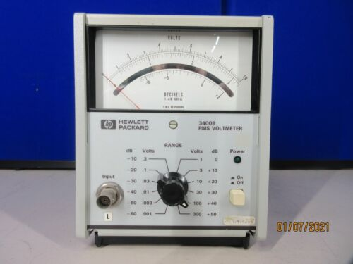 Hewlett Packard analog RMS Voltimeter 3400B