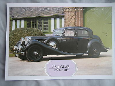 S.S.Jaguar 2.5 litre Specification Sheet
