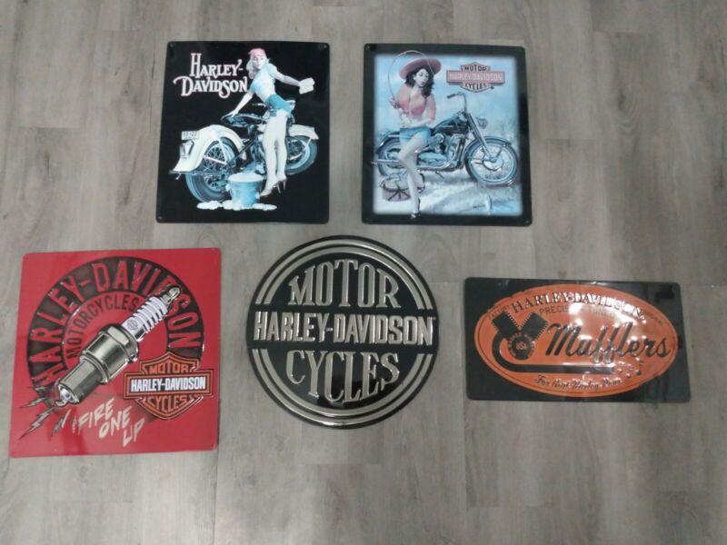 Harley Davidson Tin Signs QTY.5