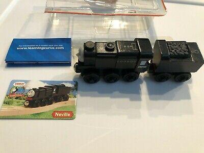 Thomas The Train Wooden Railway Neville Set Engine Tender Black Collector Card