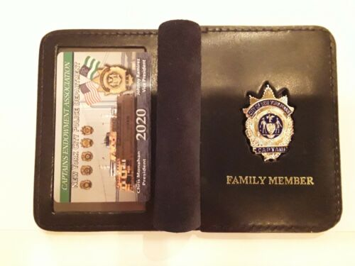 1 2020 CEA CAPTAIN CARD WITH LEATHER FAMILY MEMBER WALLET NOT LBA SBA  PBA