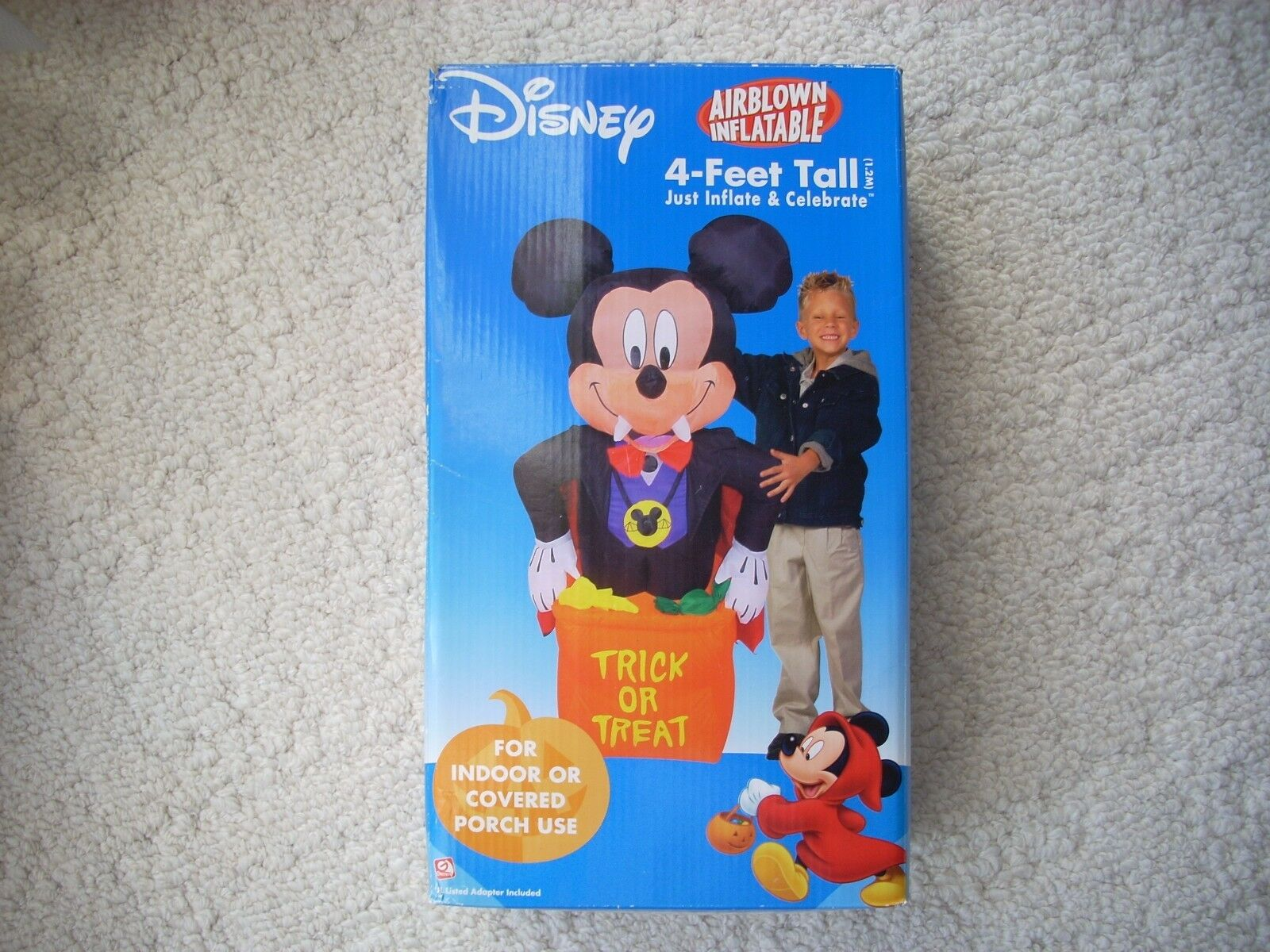 Gemmy Mickey Mouse 4 Ft. Vampire Trick Or Treat Halloween Airblown Inflatable