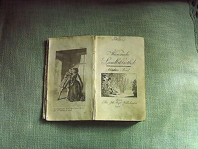 Wienerische Landbibliothek Wallishauser Astrologische Fürstin Wien Anno 1791 Rar