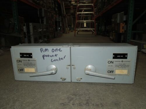 "Ge Thfp321l/thfp321 30a/30a Twin 3p 240v Fused Panelboard Switch 7""t W/ Hardware"
