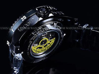 New Invicta 300M Triple Black Combat Grand Diver Automatic 3D Case   Dial Watch