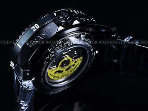 New Invicta 300M Triple Black Combat Grand Diver Automatic 3D Case & Dial Watch