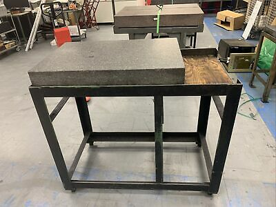 Starrett Tru-stone 36 X 24 X 6 Grade A Granite Surface Plate W Stand